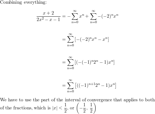 Express the function as the sum of a power series by first