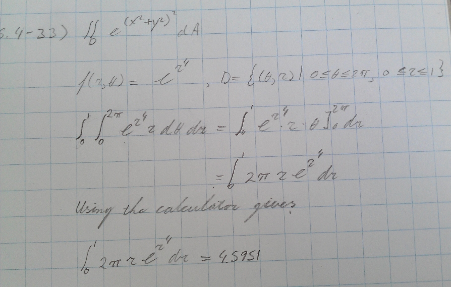 Express the double integral in terms of a single integral with