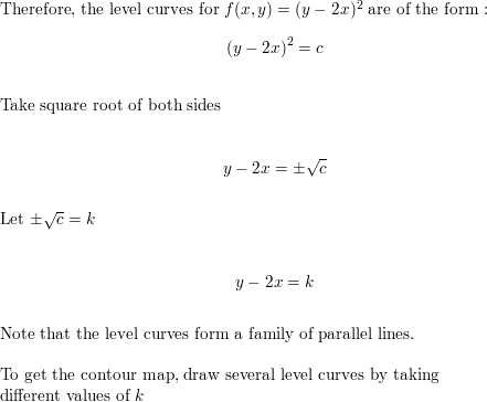 Draw a contour map of the function showing several level
