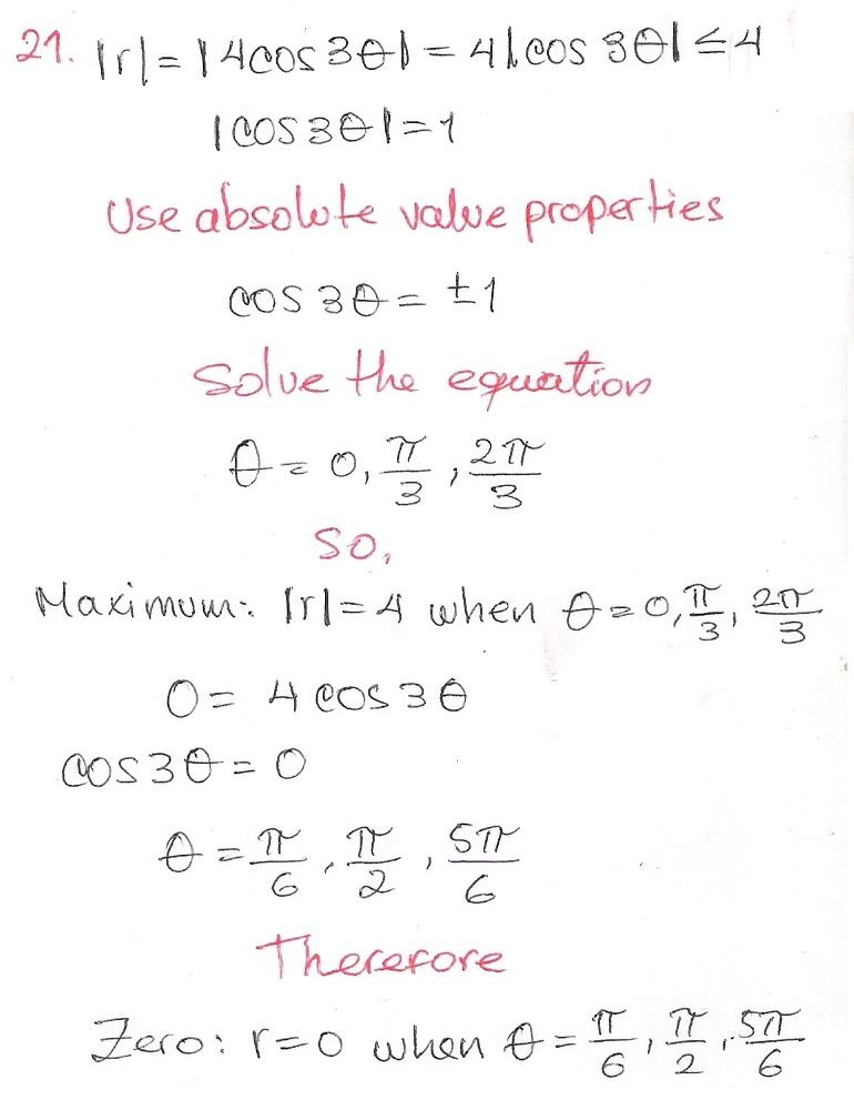 Solutions To Precalculus With Limits 9781133962885 Pg 753 Ex