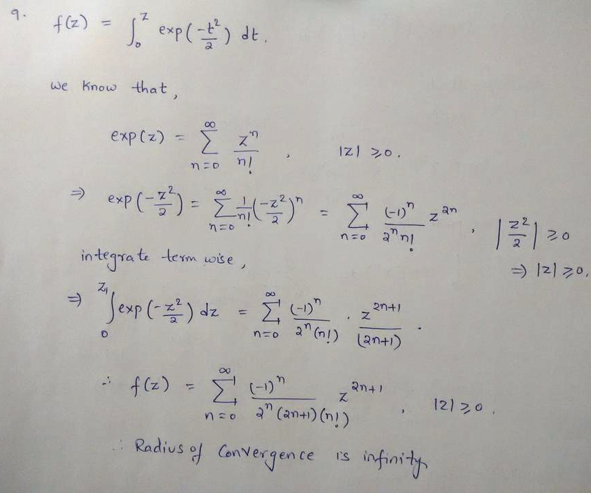 Find the Maclaurin series and its radius of convergence