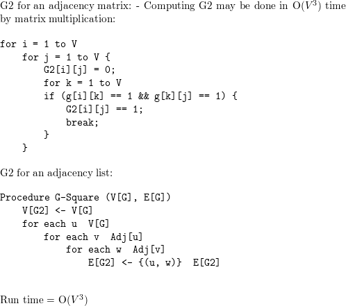 The square of a directed graph G = (V, E) is the graph G² = (V, E²