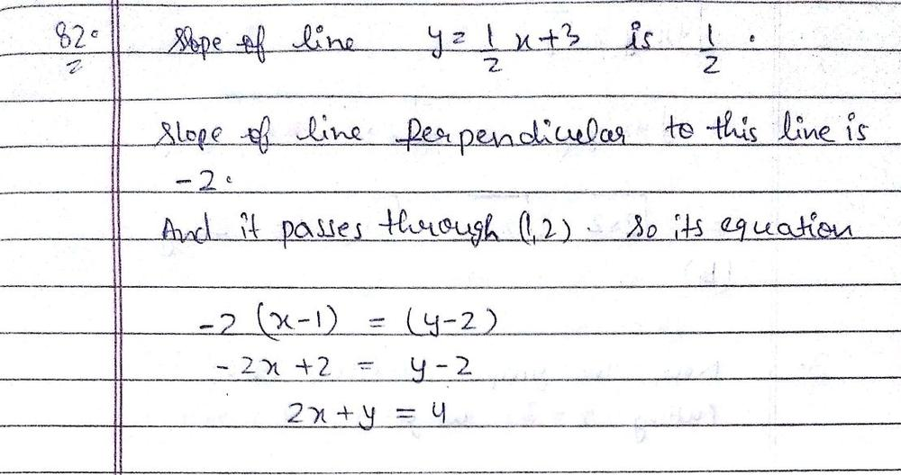 Write The Equation Of The Line That Passes Through 1 2