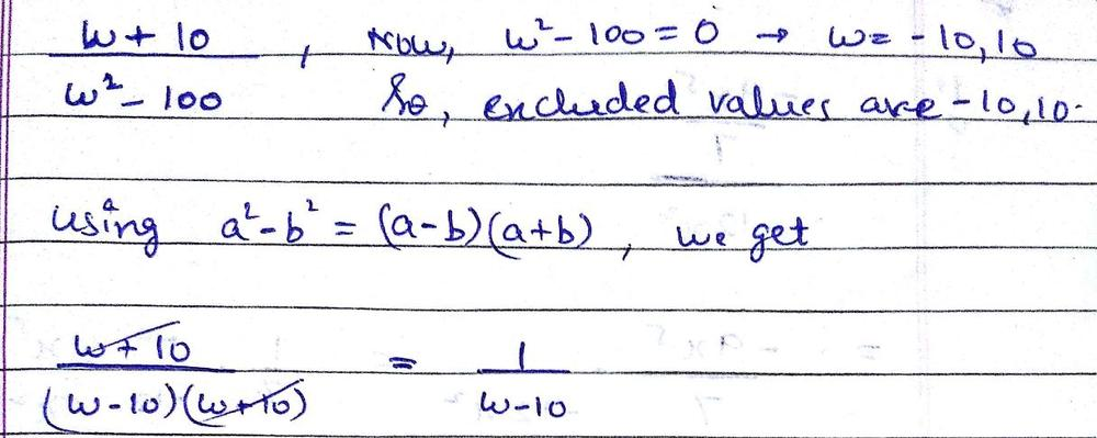 Simplify The Rational Expression If Possible State The