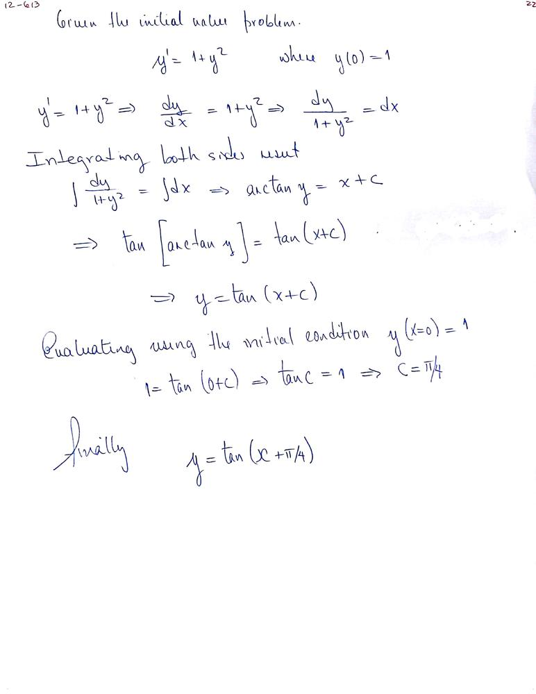 In Exercise Solve The Initial Value Problem Mathy Prime